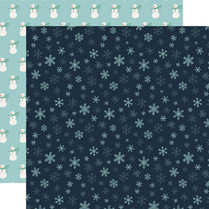 Snowflakes - double-sided 12x12 cardstock from Snow Much Fun Collection by Carta Bella Paper Co.