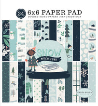 Load image into Gallery viewer, 6x6 Paper Pad from Snow Much Fun Collection Kit by Carta Bella Paper Co.