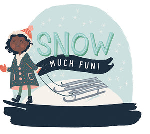 logo for Snow Much Fun Collection by Carta Bella Paper Co.