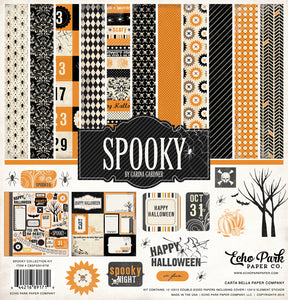 Carta Bella SPOOKY 12x12 Collection Kit with element sticker sheet