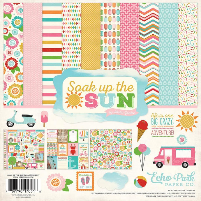 SOAK UP THE SUN 12x12 Collection Kit from Carta Bella Paper Co. - includes Element Sticker Sheet