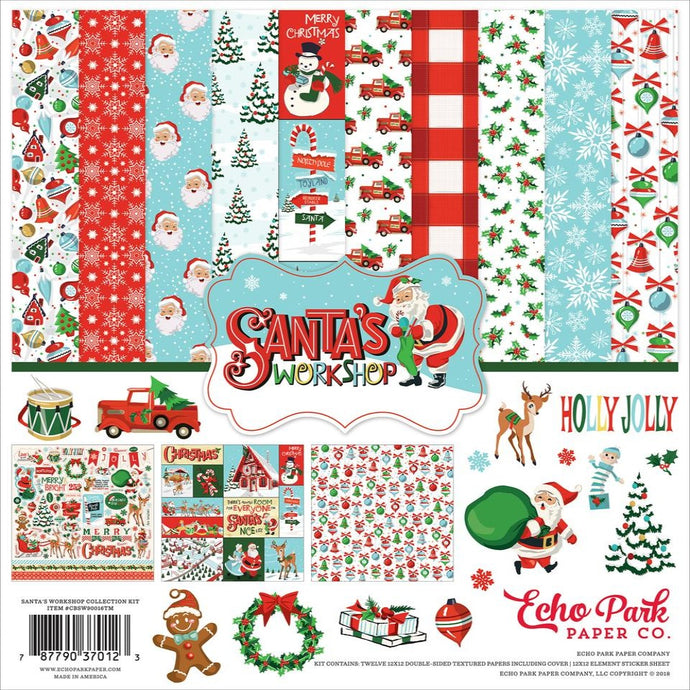 SANTA'S WORKSHOP 12x12 collection kit by Carta Bella Paper - Christmas theme