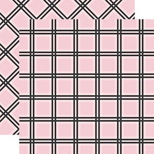 Load image into Gallery viewer, PINK TATTERSALL Tartan patterned 12x12 cardstock