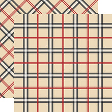 Load image into Gallery viewer, OLD ENGLISH Tartan patterned 12x12 cardstock