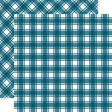 Load image into Gallery viewer, NANTUCKET Tartan patterned 12x12 cardstock