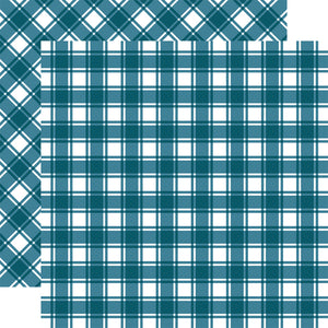 NANTUCKET Tartan patterned 12x12 cardstock