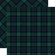 Load image into Gallery viewer, BLACK WATCH Tartan patterned 12x12 cardstock