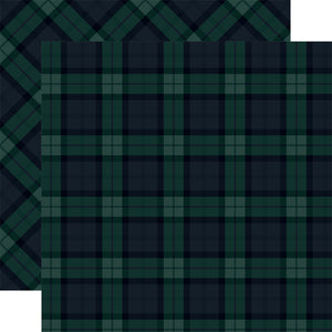 BLACK WATCH Tartan patterned 12x12 cardstock
