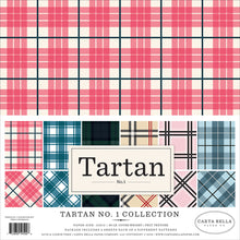 Load image into Gallery viewer, TARTAN No. 1 Collection Kit - 12 double-sided cardstock sheets with 6 Tartan patterns - Carta Bella Paper Co.