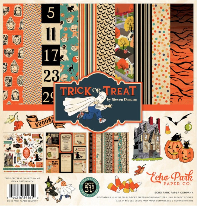 TRICK or TREAT 12x12 page kit from Carta Bella Paper Co. - Halloween theme
