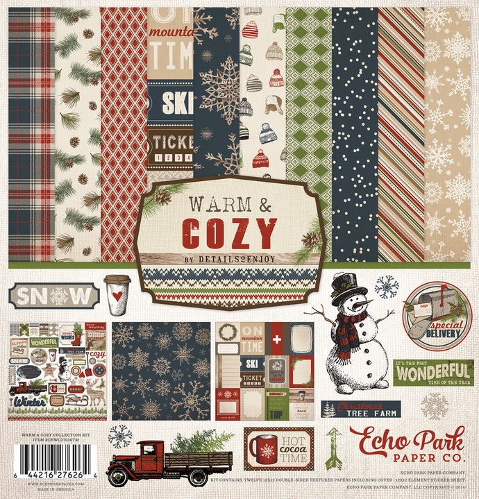 WARM & COZY 12x12 Page Collection Kit from Echo Park Paper Co.