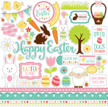 Load image into Gallery viewer, 12x12 Element Sticker Sheet for CELEBRATE EASTER collection kit from Echo Park Paper Co.