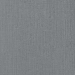 CHARCOAL gray cardstock - 12x12 inch - 80 lb - textured scrapbook paper - American Crafts
