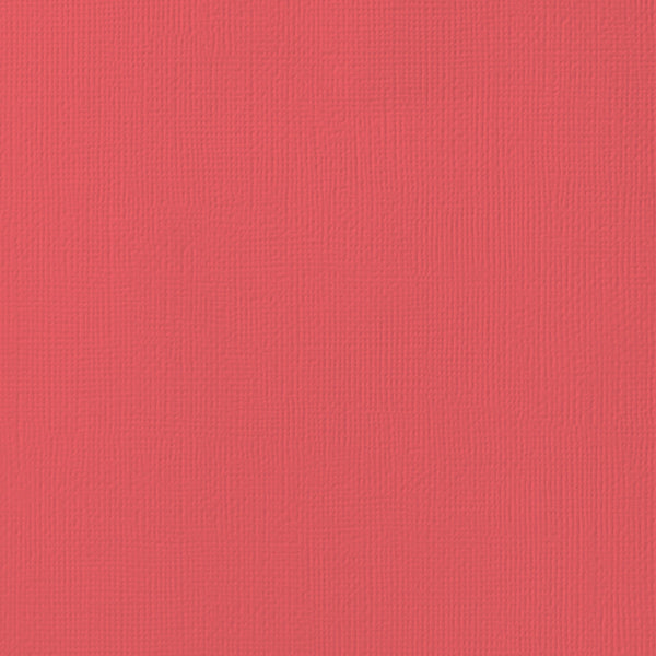 CHERRY red cardstock - 12x12 inch - 80 lb - textured scrapbook paper - American Crafts