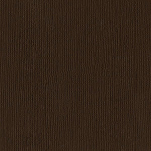 Bazzill Basics - CHOCOLATE brown cardstock - 12x12 inch - 80 lb - textured scrapbook paper