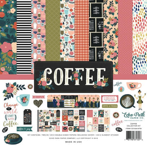 COFFEE 12x12 cardstock collection kit by Echo Park Paper