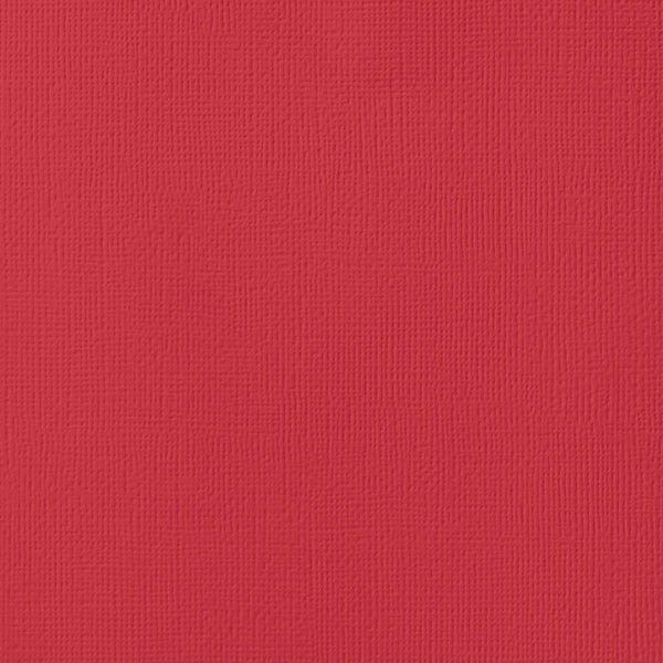 CRIMSON red cardstock -12x12 inch - 80 lb - textured - American Crafts scrapbook paper