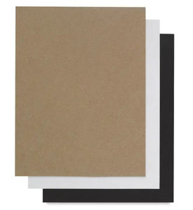 Kraft, white and black chipboard - 8.5x11 - Grafix