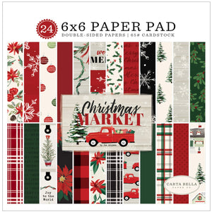 6x6 Pad with 24 coordinating sheets to match Christmas Market Collection by Carta Bella Paper Co.