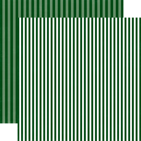 CHRISTMAS TREE STRIPE 12x12 Pattern Cardstock from Echo Park Paper Co.