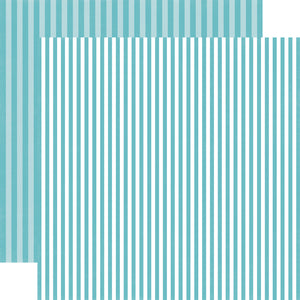 POWDER BLUE STRIPE 12x12 Patterned Cardstock from Echo Park Paper Co.