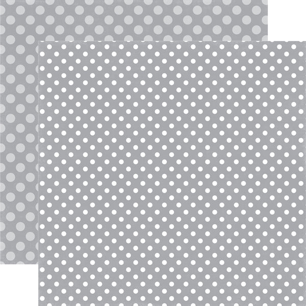 SILVER CHILL DOT 12x12 Patterned Cardstock from Echo Park Paper Co.