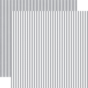 SILVER CHILL STRIPE patterned 12x12 cardstock from Echo Park Paper Co.