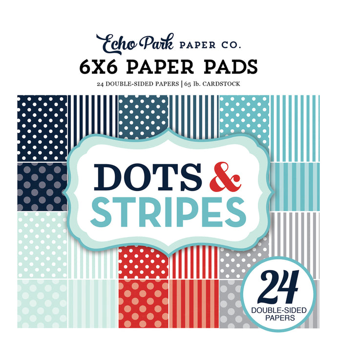 WINTER Dots & Stripes 6x6 Paper Pad from Echo Park Paper Co.