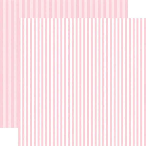 BUBBLEGUM BLISS STRIPE 12x12 patterned cardstock from Echo Park Paper Co.