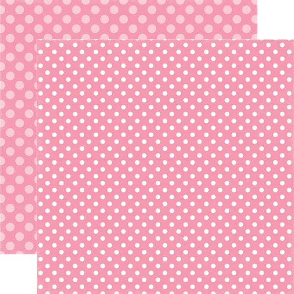 TOTALLY TAFFY DOT 12x12 patterned cardstock from Echo Park Paper Co.