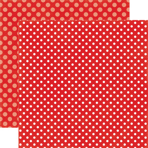 STRAWBERRY SWIRL DOT 12x12 patterned cardstock from Echo Park Paper Co.