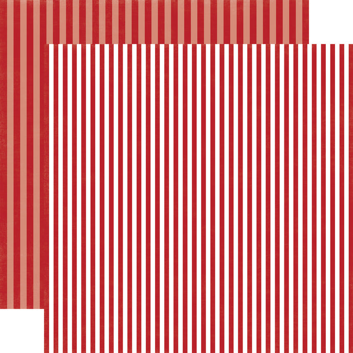 CHERRY BERRY STRIPE 12x12 patterned cardstock from Echo Park Paper Co.