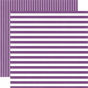 GRAPE JELLY STRIPE 12x12 Cardstock from Dots & Stripes Collection by Echo Park Paper Co.