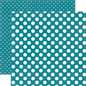 COASTAL CRUSH DOT 12x12 cardstock from Dots & Stripes Collection by Echo Park Paper Co.