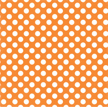 Load image into Gallery viewer, Tangerine Tango Dot 12x12 double-sided Dots and Stripes cardstock from Echo Park Paper Co.