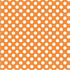 Tangerine Tango Dot 12x12 double-sided Dots and Stripes cardstock from Echo Park Paper Co.