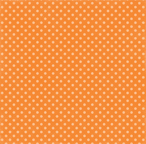 Reverse side of Tangerine Tango Dot 12x12 double-sided Dots and Stripes cardstock from Echo Park Paper Co.