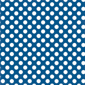 BLUE LAGOON DOT 12x12 Cardstock from Dots & Stripes Collection by Echo Park Paper Co.