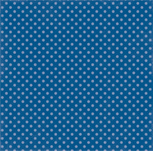 Load image into Gallery viewer, Reverse side of BLUE LAGOON DOT 12x12 Cardstock from Dots & Stripes Collection by Echo Park Paper Co.
