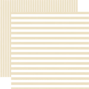PEARL STRIPE 12x12 Cardstock from Dots & Stripes Collection by Echo Park Paper Co.