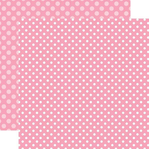 RASPBERRY DOT 12x12 patterned cardstock from Echo Park Paper Co.