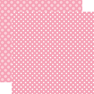 Raspberry Dot 12x12 Cardstock from Echo Park Paper Co.