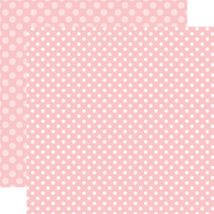Strawberry Dot 12x12 Cardstock from Echo Park Paper Co.