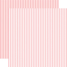 Load image into Gallery viewer, Strawberry Stripe 12x12 Cardstock from Echo Park Paper Co.