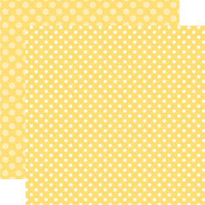 Banana Cream Dot 12x12 Cardstock from Echo Park Paper Co.