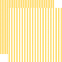 Load image into Gallery viewer, Banana Cream Stripe 12x12 Cardstock from Echo Park Paper Co.
