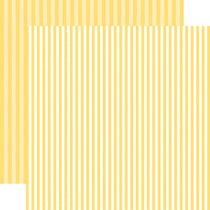 Banana Cream Stripe 12x12 Cardstock from Echo Park Paper Co.