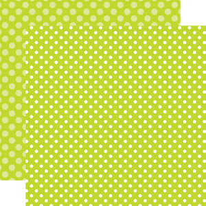 KEY LIME DOT 12x12 patterned cardstock from Echo Park Paper Co.