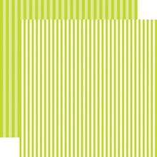 Load image into Gallery viewer, Key Lime Stripe 12x12 Cardstock from Echo Park Paper Co.