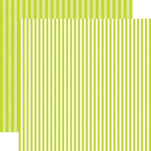Key Lime Stripe 12x12 Cardstock from Echo Park Paper Co.
